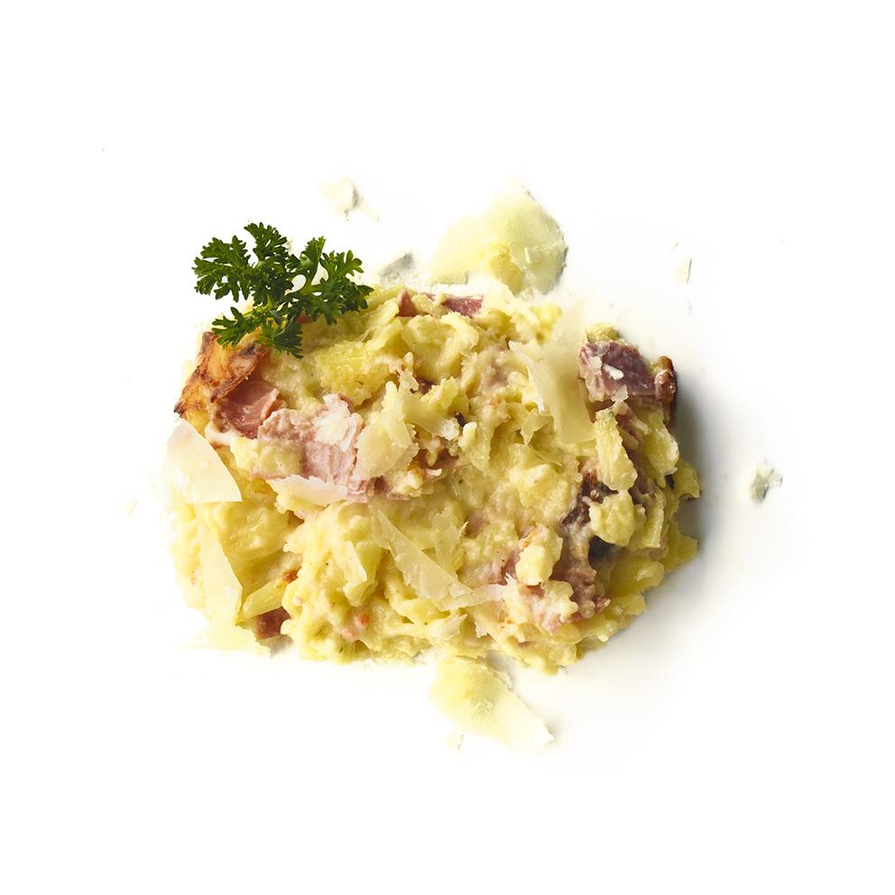 Glutenvrije macaroni met hesp en kaas