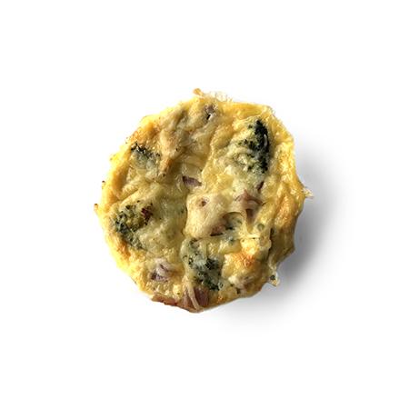 Glutenvrije quiche ham en prei