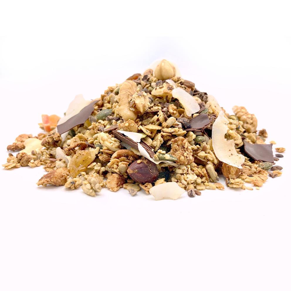 glutenvrije granola met chocolade
