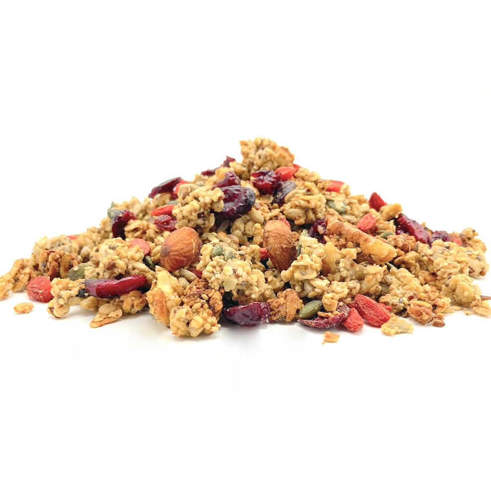 granola rode vruchten glutenvrij
