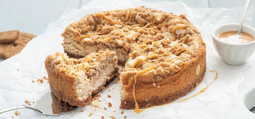 Recept van de maand: Glutenvrije Cheesecake met speculaas crumble